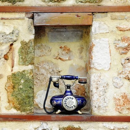 Vintage Telephone in wall